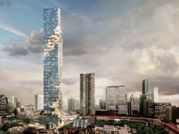 Thailand's new tallest building is pixellated