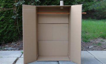 Turn a cardboard box into a budget smoker