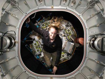 NASA astronaut Kate Rubins enters BEAM for inspection
