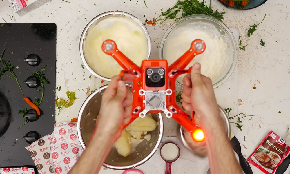 Cooking with a drone by Autel Robotics