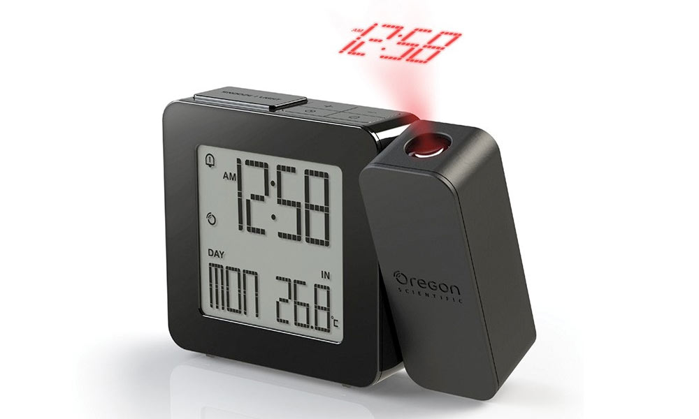 Oregon Projection Clock with thermometer