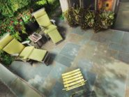 Built your own blue rock patio
