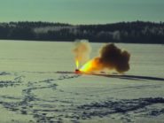 Can thermite burn through a frozen lake
