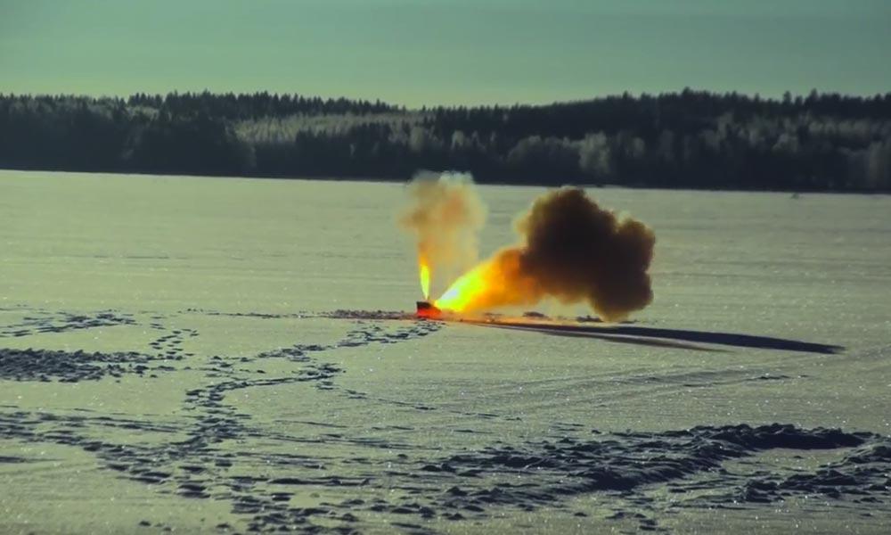Can thermite burn through a frozen lake