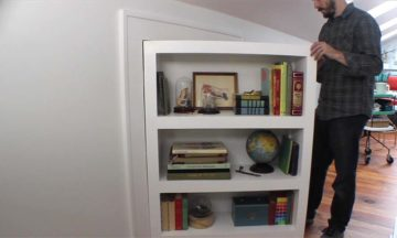 Turn your bookcase into a secret door