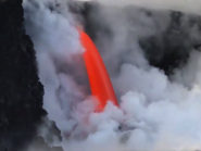 Intense Kīlauea lava flow returns after cliff collapse