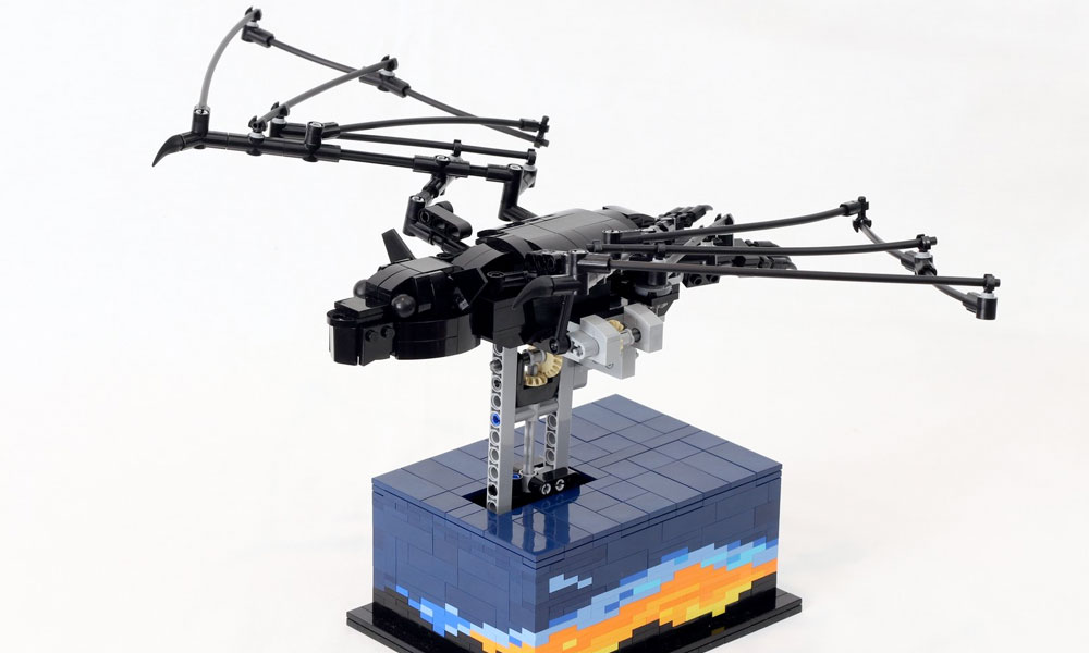 Lego bat with realistic movement