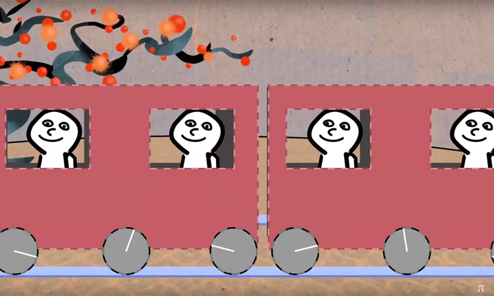 How trains turn without falling off the tracks