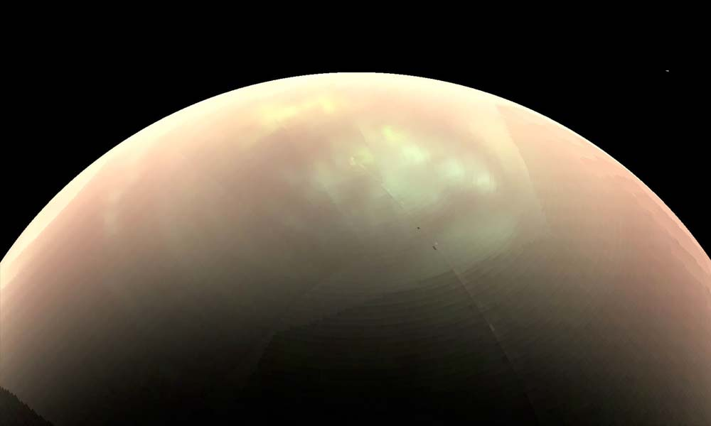 Saturn's moon Titan has eruptions of giant bubbles