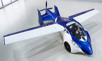 AeroMobil 3.0's body, wings and wheels were constructed using steel framework and carbon coating.