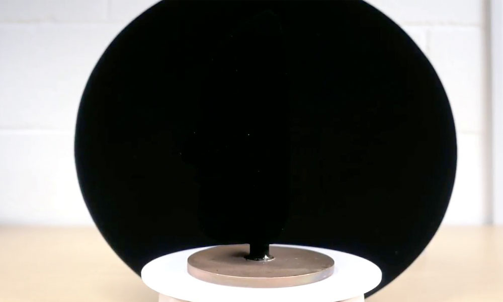 Spot the flaw in this Vantablack illusion