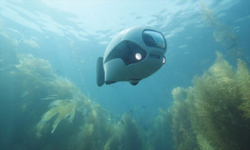 BIKI is a compact underwater drone with advanced bionic tech.