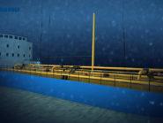 An illustration of the sunken Kyung Shin tanker