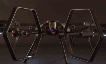 Hexacopter with tiltable blades can fly in any direction