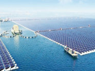 A picture of the world's largest floating solar energy farm in China.