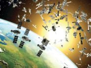 Satellites illustrating how space junk might trap us on Earth