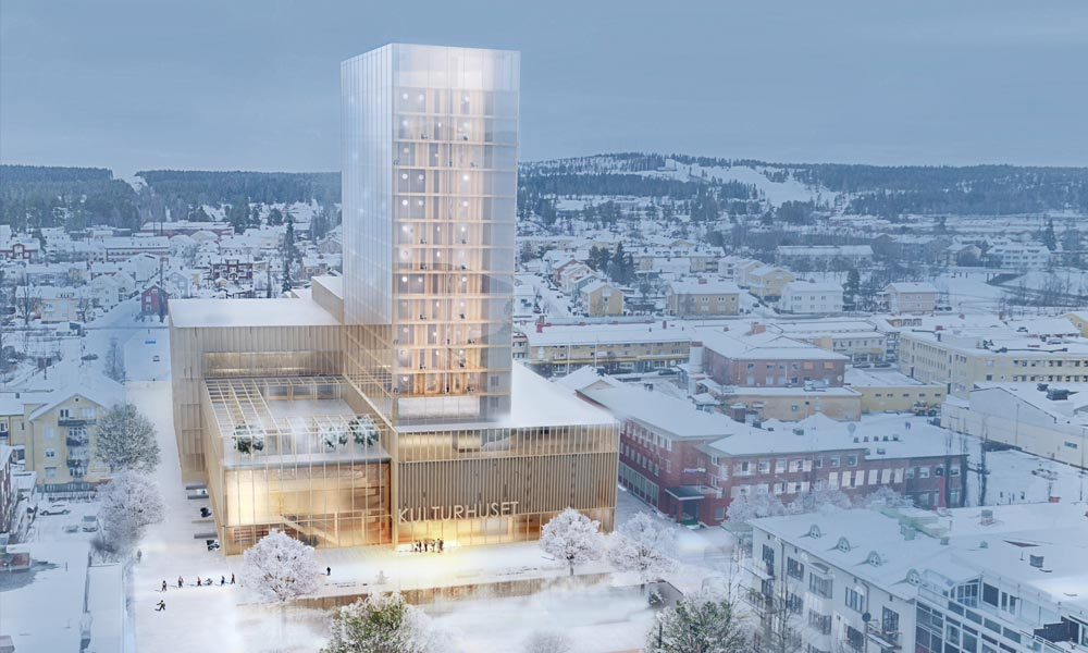 First of Sweden's wooden skyscrapers is a cultural centre.
