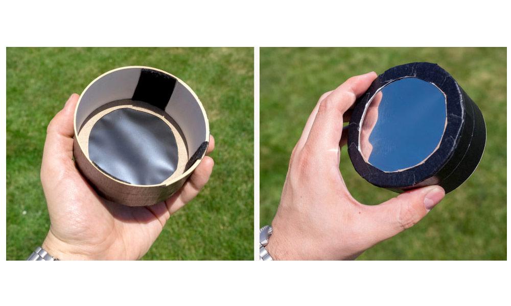 DIY solar filter made with mylar solar filter