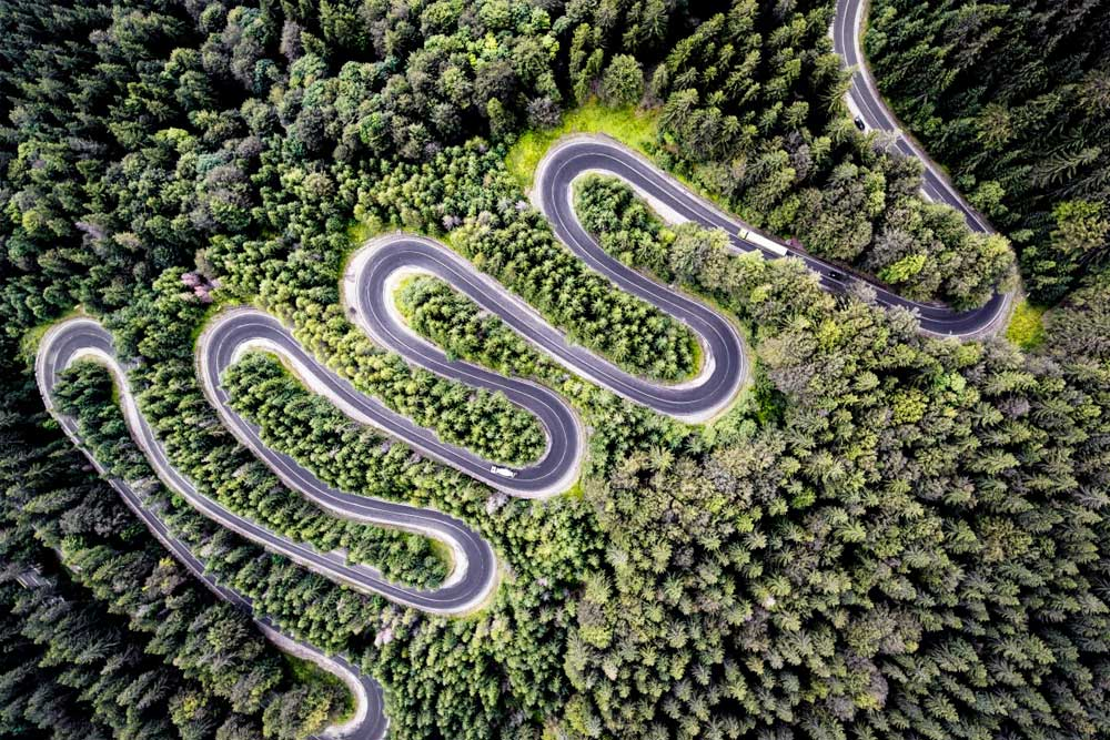 International Drone Photography contest Infinite Road to Transylvania