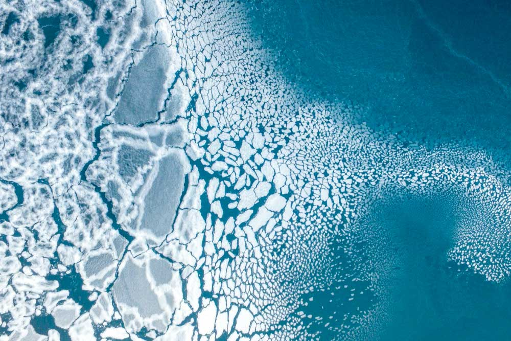 International Drone Photography contest ice breaking apart in Greenland