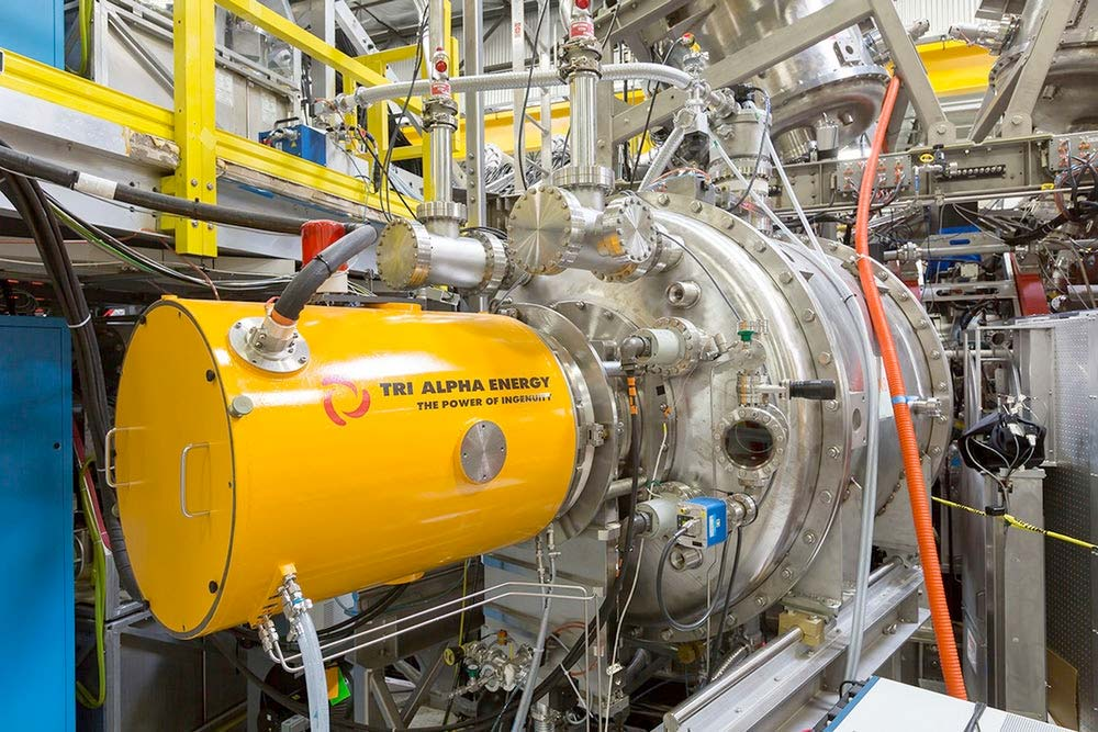 Tri Alpha Energy's new large plasma generator, Norman - for the nuclear fusion project.