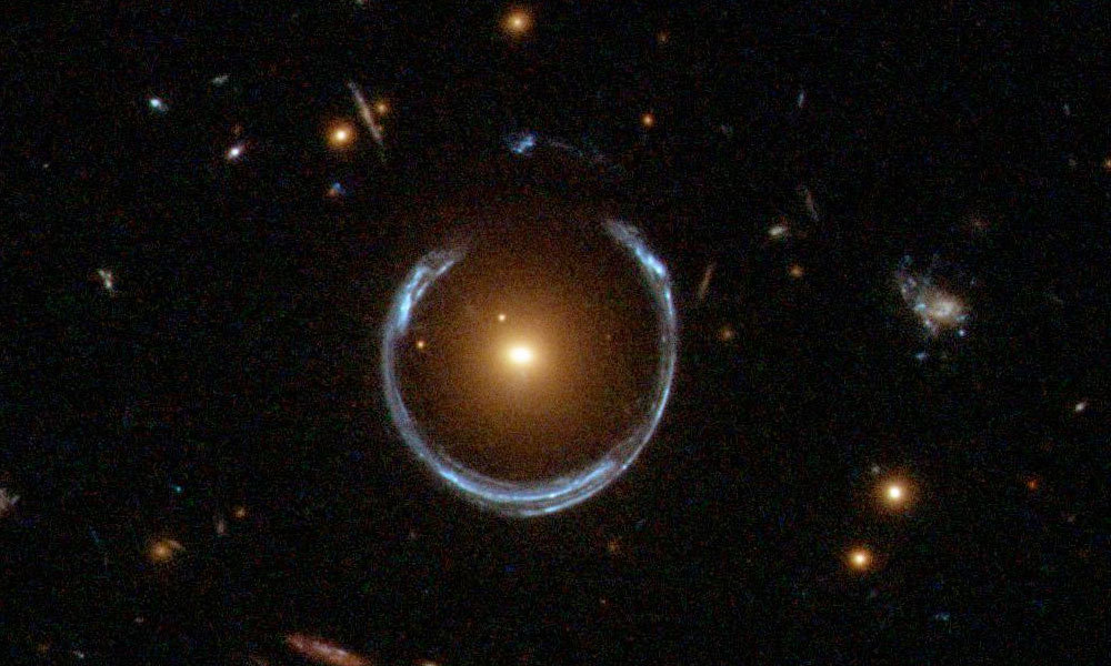 gravitational lensing of a galaxy