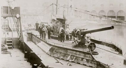 German U-boat in port