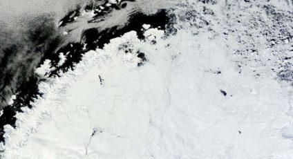 Antarctica satellite image