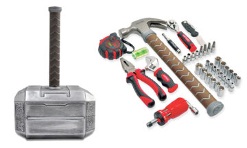 Thor's hammer with a 44-piece toolkit hidden inside