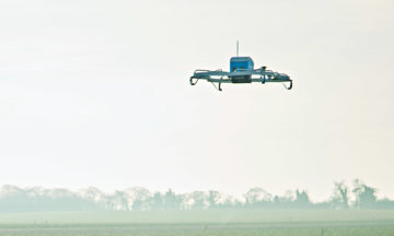 drone fragmentation patented by Amazon with a pic of their drone